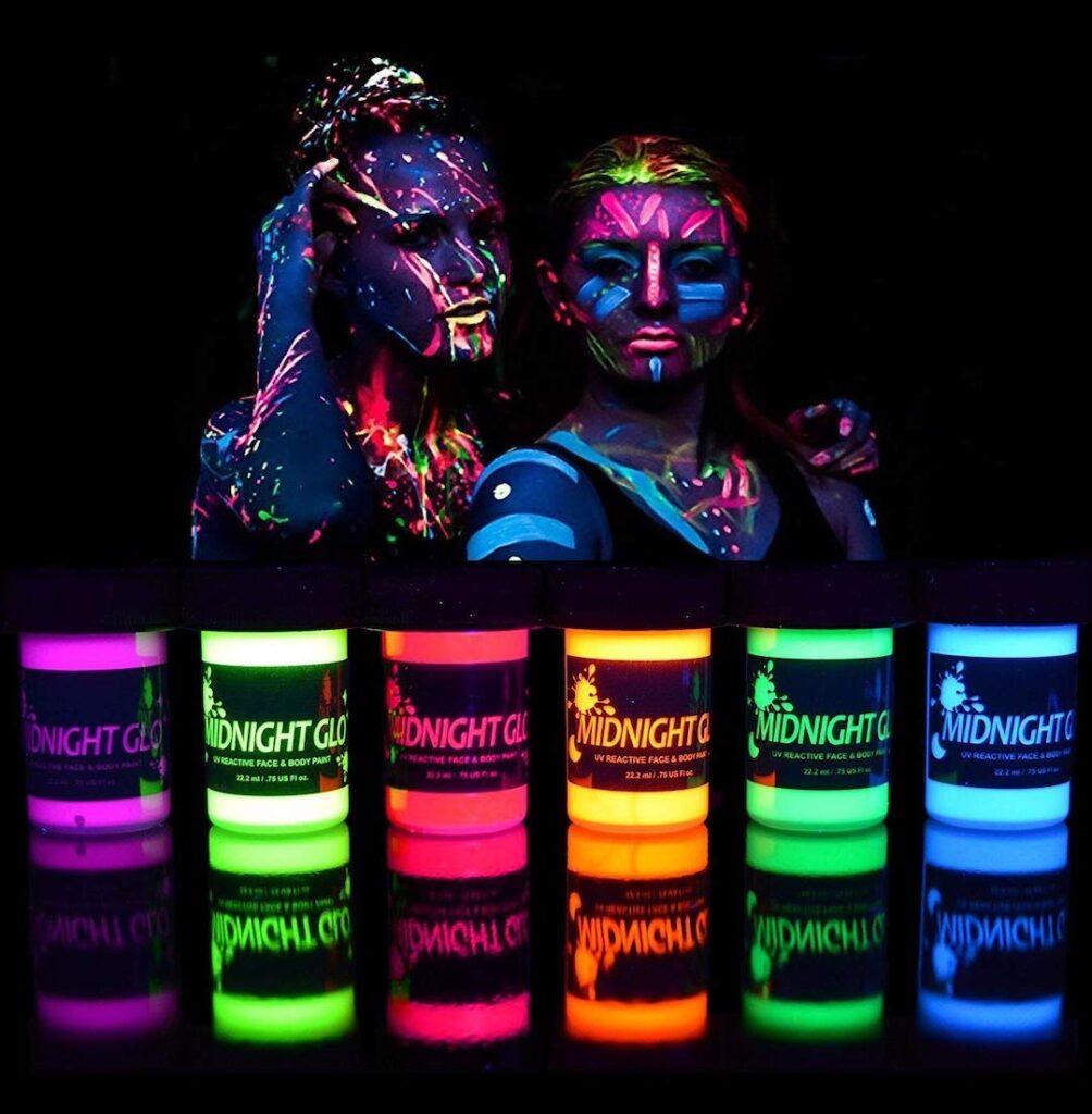 Midnight Glo Black Light Reactive Body Paint