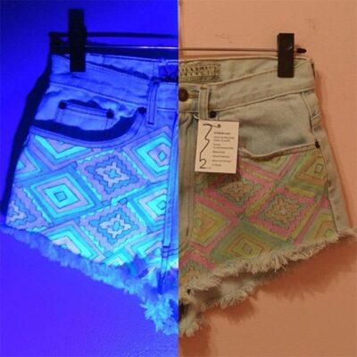 Glow In The Dark Aztec Shorts