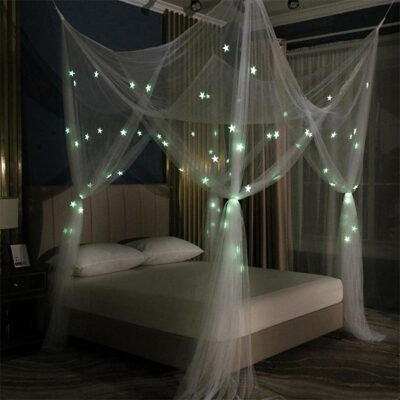 Glow Star Bed Canopy Mosquito Net