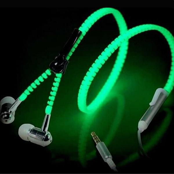 Glow Zipper Earphones