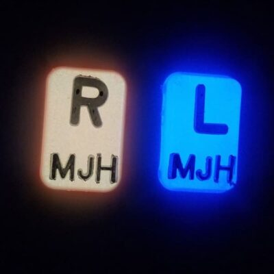 Glow in the Dark X-ray Markers