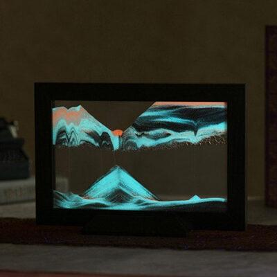 Silhouette Glow Black Sand Art Frame