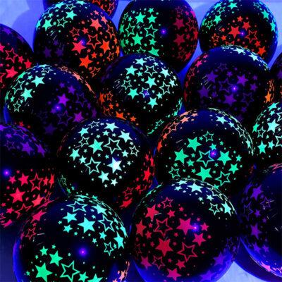 Blacklight Neon Glow Star Balloons