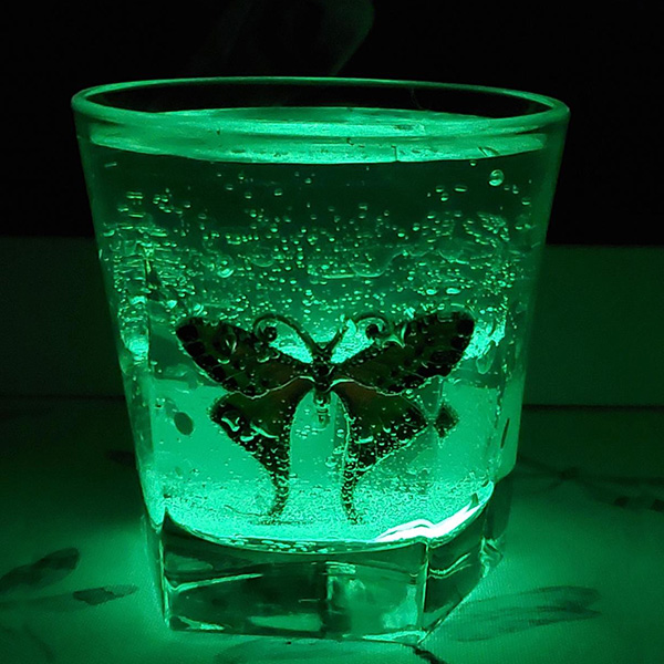 Burnless Butterfly Green Glow Candle