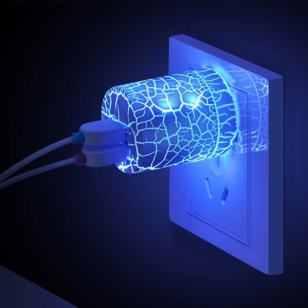 Light up Glow USB Wall Charger
