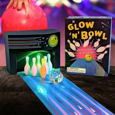 Miniature Glow 'n' Bowl Desk Game