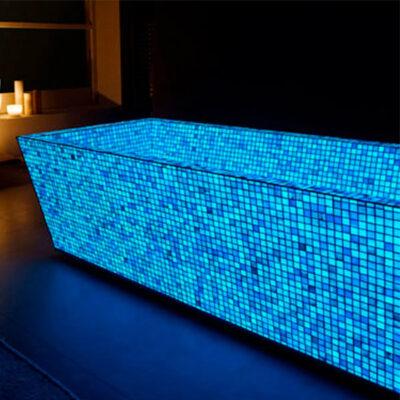 Photoluminescent Mosaic Glow Tiles