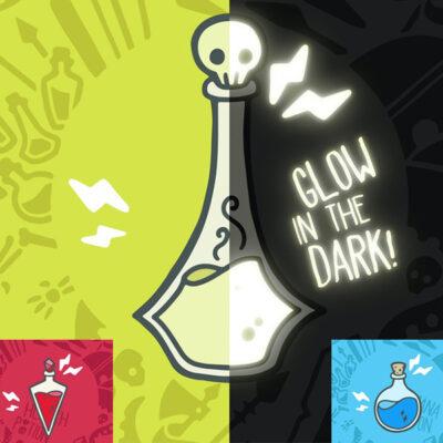 Wizard's Apothecary Glow Enamel Pins