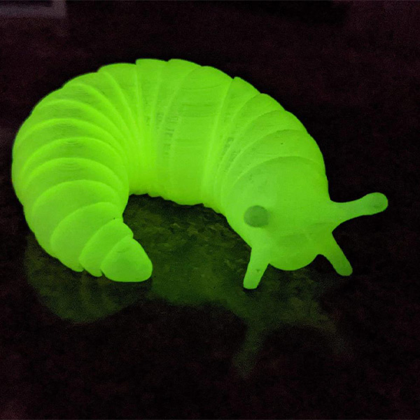 Glow in the Dark Articulated Slug