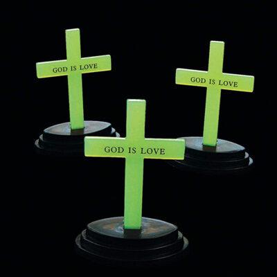 God is Love Glow in The Dark Crosses