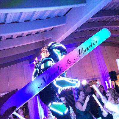 Personalized LED Foam Glow Sticks