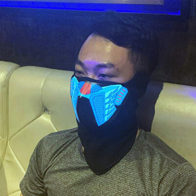 Voice-Activated Light Up LED Masks
